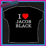 I LOVE HEART JACOB BLACK TWILIGHT NEW MOON TSHIRT